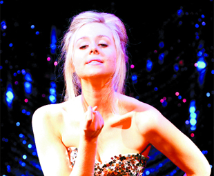 STAGE STRUCK: Diana Vickers on stage in Little Voice transforms from shy schoolgirl to a singing sensation