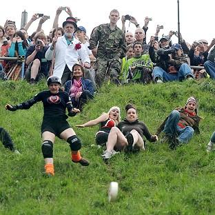 Rebel cheese chasers are set to gather on Cooper's Hill near Gloucester for an unofficial Cheese Rolling race