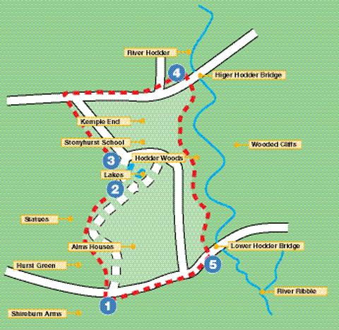 The Hurst Green route