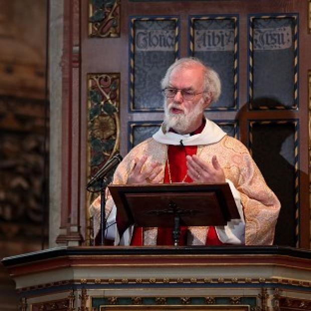 Archbishop of Canterbury Dr Rowan Williams compared church volunteers to the Games Makers