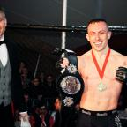 Preston and Leyland Citizen: Richard Buskin after winning the lightweight UFW champion belt