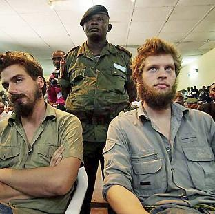 Preston and Leyland Citizen: Tjostolv Moland, left, and Joshua French were sentenced to death in 2009 after being found guilty of espionage and murder in the Democratic Republic of Congo