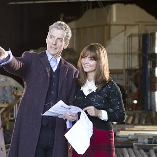 Preston and Leyland Citizen: Actor Peter Capaldi admitted feeling nervous as he started work as the new Doctor Who with co-star Jenna Coleman