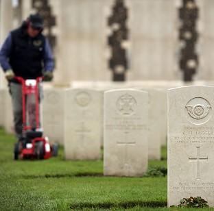 The Tyne Cot Cemetery and Memorial in Ypres, Belgium, as the Commonwealth War Graves Commission prepares f