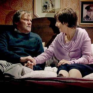 Hayley and Roy Cropper, played by Julie Hesmondhal