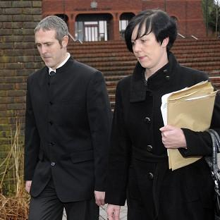 Stewart and Natasha Sutherland leave Telford Magistrates' Court after being fined �630 plus costs for taking their