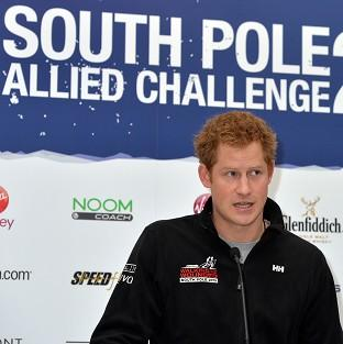 Preston and Leyland Citizen: Prince Harry speaks at the Walking With The Wounded South Pole Allied Challenge welcome home press conference