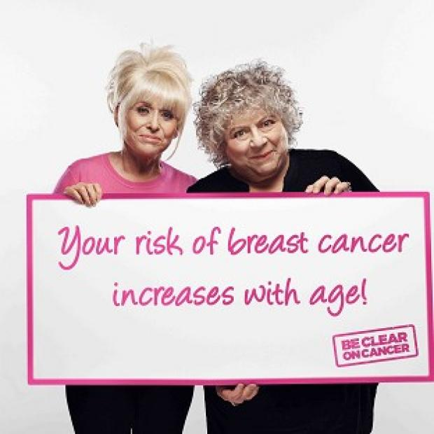 Preston and Leyland Citizen: Actresses Barbara Windsor and Miriam Margoyles are supporting a new Be Clear on Cancer campaign (Public Health England)