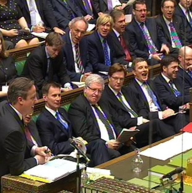 Preston and Leyland Citizen: A view of the Government front bench as David Cameron speaks during Prime Minister's Questions.