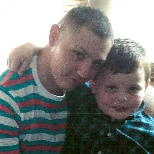 Preston and Leyland Citizen: Dean Mayley, 24, hugging his seven-year-old nephew Callum