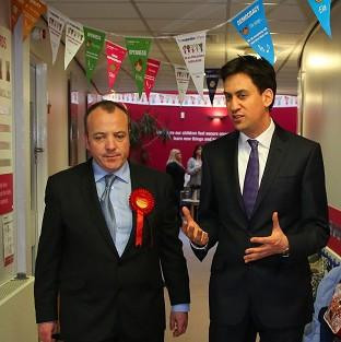 Labour Leader Ed Miliband helped new Wythensh