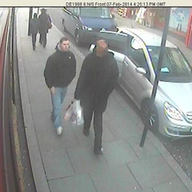 Preston and Leyland Citizen: CCTV picture shows Dean Mayley (left), walking in Greenford shortly before he was murdered