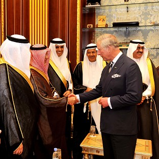 The Prince of Wales visited the Shura parliament building in Riyadh, the capital of Saudi Arabia, last year