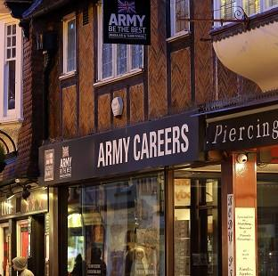 The Army Careers office in Canterbury, Kent, one of the armed forces recruitment offices where suspected explosive devices
