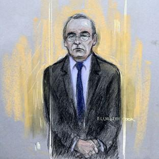 Preston and Leyland Citizen: Court artist sketch by Elizabeth Cook of Fred Talbot in the dock at Manchester Magistrates' Court.