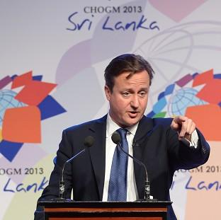 Preston and Leyland Citizen: Prime Minister David Cameron during November's summit in Colombo, Sri Lanka