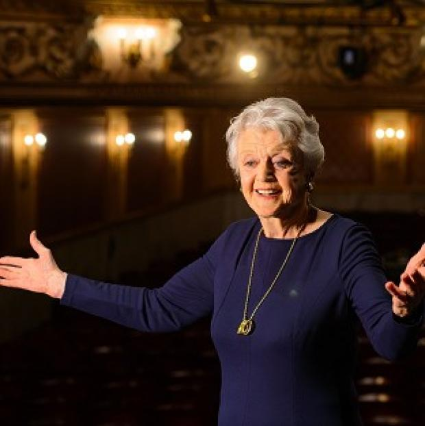 Preston and Leyland Citizen: Actress Dame Angela Lansbury onstage during a photocall at the Gielgud Theatre, in central London, where she will play the role of Madam Arcati in a new production of 'Blithe Spirit', her first West End role in almost 40 years.