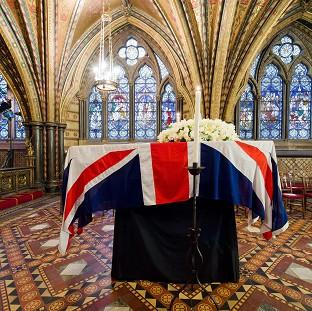 Preston and Leyland Citizen: Baroness Thatcher's coffin rested in the Crypt Chapel of St Mary Undercroft before her funeral.