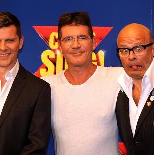 Preston and Leyland Citizen: Nigel Harman (left) will play Simon Cowell (centre) in the musical penned by Harry Hill (right).