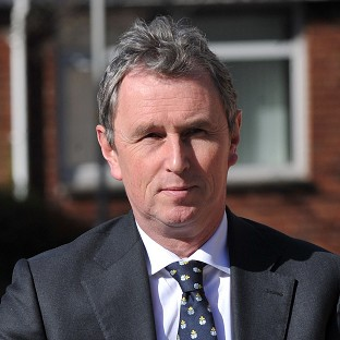 Former deputy speaker of the House of Commons Nigel Evans arrives at Preston Crown Court where he faces nine charges of sexual offences against seven men