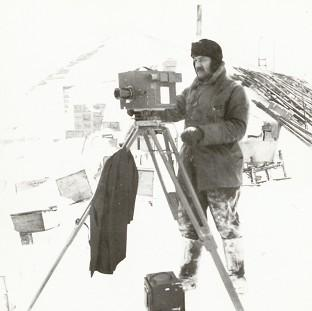 Preston and Leyland Citizen: Herbert Ponting working in Antarctic conditions in a picture taken by polar explorer Captain Scott in October 1911 (Scott Polar Research Institute)