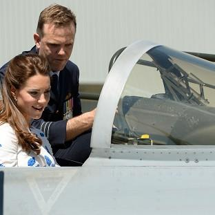 Preston and Leyland Citizen: The Duchess of Cambridge sits in the cockpit of a Super Hornet during a visit to RAAF base Amberley