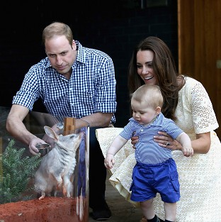 Royals protect animal from George