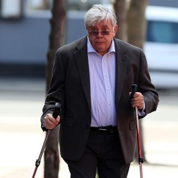 Preston and Leyland Citizen: Former executive chairman of the now-defunct JJB Sports Sir David Jones arriving at Leeds Crown Court