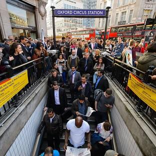 Preston and Leyland Citizen: People queue outside Oxford Circus underground station, in central London, during the rush hour as the Tube strike continues