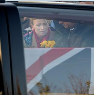 Preston and Leyland Citizen: Emma Fisher, the widow of Warrant Officer Class 2 Ian Michael Fisher, as the cortege passes