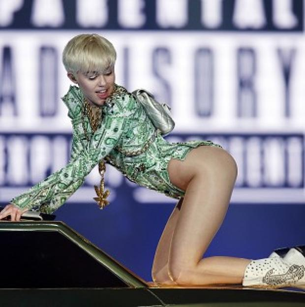 Preston and Leyland Citizen: Miley Cyrus performs in concert at the O2 Arena, London, on the UK leg of her Bangerz tour.