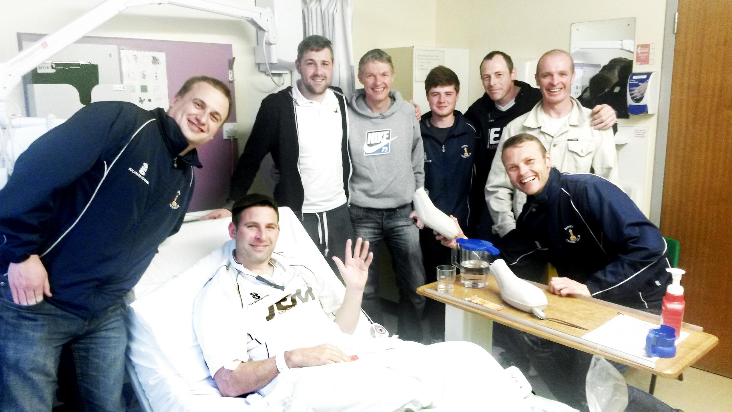 Andrew Cook and his team-mates at Furness General Hospital