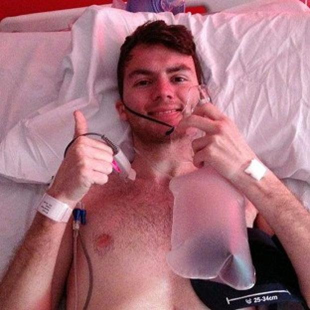 Preston and Leyland Citizen: Stephen Sutton, 19, has told his supporters via Facebook that he is back in hospital