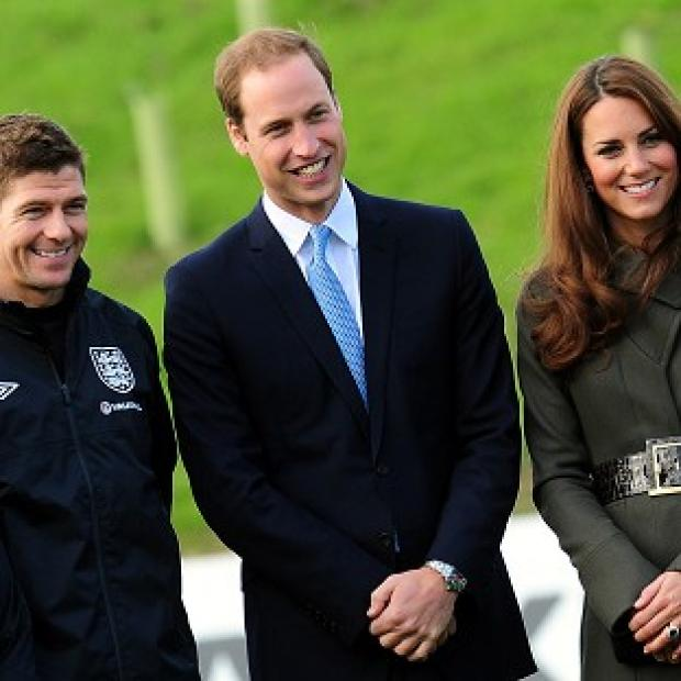 Preston and Leyland Citizen: The Duke and Duchess of Cambridge with Steven Gerrard during the official launch of The Football Association's National Football Centre at St George's Park in Burton-upon-Trent, England.