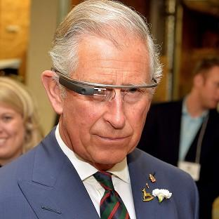 Preston and Leyland Citizen: The Prince of Wales tries on Google Glass on the final day of his trip to Canada.