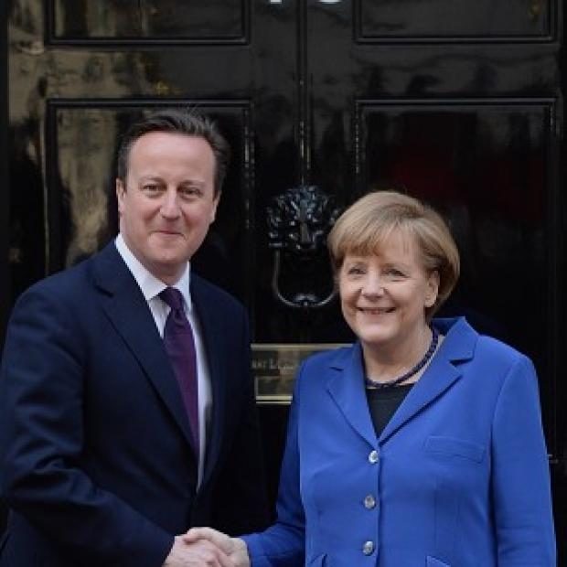 Preston and Leyland Citizen: David Cameron is to continue talks with German leader Angela Merkel in Sweden