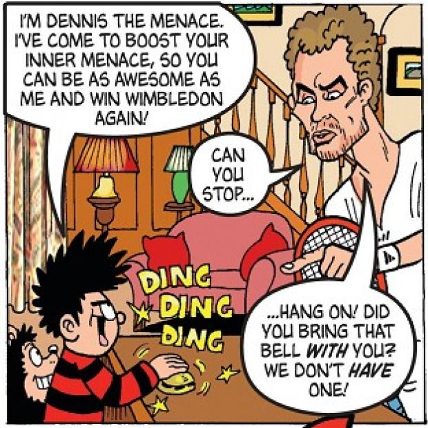 Preston and Leyland Citizen: Andy Murray as he appears in the latest edition of the comic, The Beano, which he also guest edits.