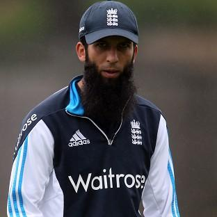 Moeen Ali, pictured, is standing